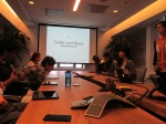 NBTB students visit Twitter for a presentation by Karen Wickre, editorial director. Photo by NBTB staff.