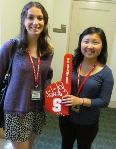 From left, Emma Steiner and Patricia Jia.