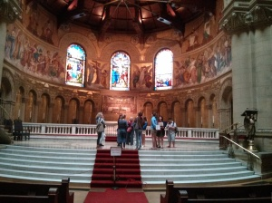 NBTB 2013 students tour Memorial Church, a Romanesque jewel at the heart of the Stanford campus.