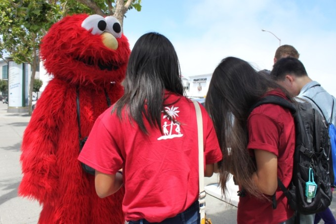 "Team Post interviews Elmo, aka Dan Sandler, on the ""international fame"" of taking a Sesame Street character to the streets of San Francisco."