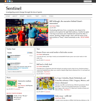 Covering sports and life with Team Sentinel