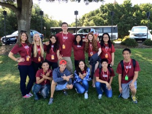 Year 2 students pause for a group photo during their daylong reporting trip to San Francisco. Photo by NBTB staff.