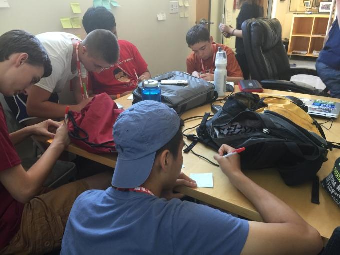 Day 1: NBTB students take on designthinking