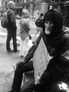 Memphis, 66, lives in San Francisco's Union Square Park. Credit: Celine Herrera